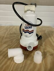 Rule 1800 Gph Non-automatic Sump And Utility Pump A53d 110v Ac Portable 8and039 Cord