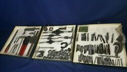 Large Lot 130+ Machinist Tools Hand Taps Wrenches Dies Vise File Handles Vg
