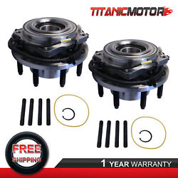 Left And Right Front Wheel Hub Bearing Assembly For 11-16 Ford F350 F250 W/ Abs