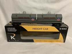 ✅k-line By Lionel Union Pacific Steel Coil Car O Scale Train Mill Up