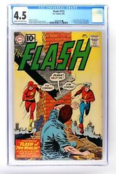 The Flash 123 Cgc 4.5 Sept.1961 Dc Comics First Golden Age + Silver Age Flash