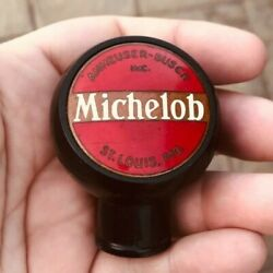 Michelob Beer Ball Tap Knob Budweiser Anheuser Busch Brewing St. Louis Mo 1930and039s