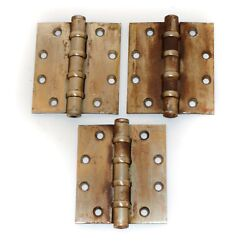 Set Of 3 Stanley Bb168 Commercial Door Hinges Ball Bearing 4.5 X 4.5 Used