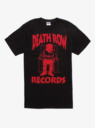 HOT NEW DEATH ROW RECORDS RED LOGO T SHIRT Vintage Black Tee For Men Size S 3XL