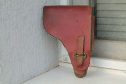 Old Original Rare Army Holster German Walther P38 Wwii Ww2 Braining Zauer Red