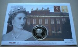 2002 50th Anniversary Hm The Queen's First Stamps 50p Crown Coin Cover Pnc