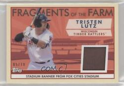 2019 Topps Pro Debut Fragments Of The Farm Relics Red /10 Tristen Lutz Fof-tr