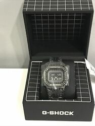 Casio G-shock Gmwb5000cs-1 Watch Black Stainless Steel Case Black Laser Etched