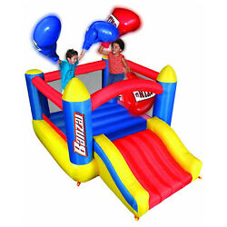 Banzai Large Kids Big Bop Inflatable Boxing Ring Bounce House Jumper with Slide