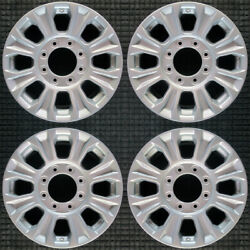 Ford F-250 All Silver 18 Oem Wheel Set 2017 To 2021
