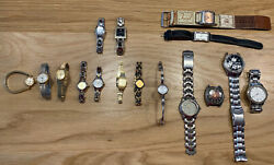 Lot Of Watches Seiko, Bulova, Fossil, Guess, Relic...