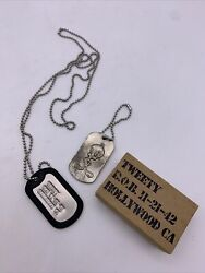 Vintage Looney Tunes Tweety Bird Dog Tags Pendant Necklace And Key Chain Htf