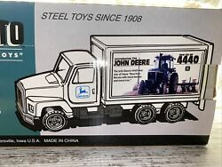 Structo Toys John Deere Delivery Box Truck Introducing The New 4440 Tractor