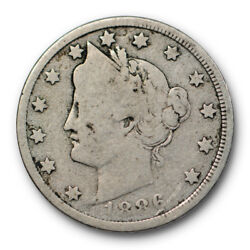 1886 Liberty Head Nickel Good G Key Date Five Cent Coin 10705
