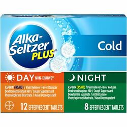 Alka-seltzer Plus Day And Night Cold Relief Non-drowsy Tablets | 20 Ct | 12 Pack