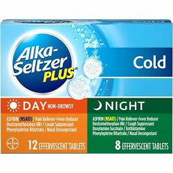 Alka-seltzer Plus Day And Night Cold Relief Non-drowsy Tablets | 20 Ct | 10 Pack