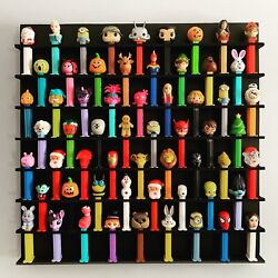 60 Wall Pez Dispenser Display Holds 60 22 X 22 Pine Wood Paint And Stain Options