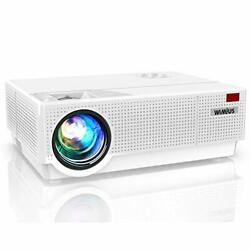 Projector, Wimius Newest P28 7000 Lumens Led Projector Native 1920x1080 Video 4k
