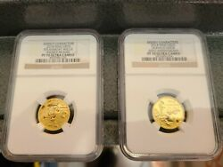 Disney - Steamboat Willie And Donald Duck - Ngc Pf70 Ultra Cameo Set