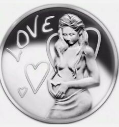 2013 1 Oz .999 Pure Silver Shield Proof Love Girl Coa Round Coin Sbss Wastweet