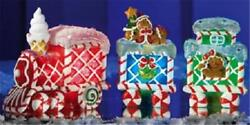 Christmas Lighted Gingerbread Collectible Train Table Top Decor