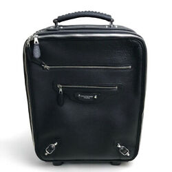 Balenciaga 272476 Trolley Case Travel Roller Carry-on Bag Leather Black/silverhw