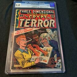3-d Tales From The Crypt Of Terror 2 Three Dimensional Cgc 2.0 1954 Ec Comics