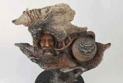 Rick Cain 3d Sculpture Ship Of Dreams 1997 Limited Edition 61/2000 Cosmic Wolf