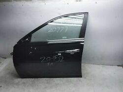 19 20 Nissan Altima Front Driver Left Door 80101-6ca0a Black W/o Heated Mirror