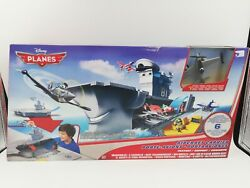 Disney Planes Aircraft Carrier Playset Includes Dusty Crophopper Figure, Htf New