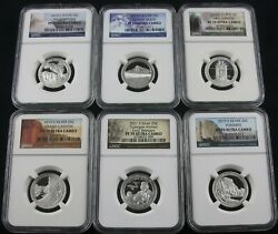 2010 - 2021 S Silver Proof Quarter Np 61 Coin Set With Reverse Proofs Ngc Pf 70