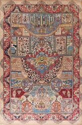 Antique Dynasty Historical Kashmar Large Area Rug Hand-knotted Oriental 10and039x13and039