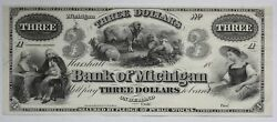 3 Bank Of Michigan Remainder Note M-1460-15 Mount Removed 03ca