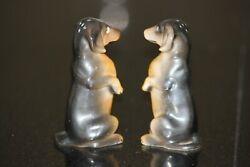 Dachshund Vintage Salt And Pepper Shakers Made In Japan
