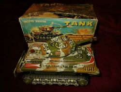 Amazing Vintage Rare Nomura T.n Tank Tin B/o Japan Toy From 60s Boxed