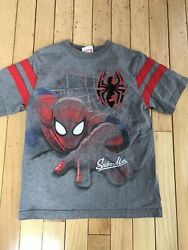 Spiderman boys cotton blend multicolor spiderman short sleeve tee shirt size 7