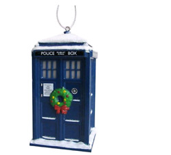 Doctor Who Tardis With Wreath Light Up Christmas Ornament