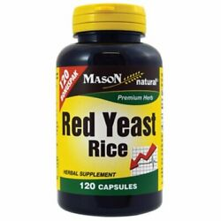Mason Naturals Red Yeast Rice Capsules | 120 Count | Pack Of 5