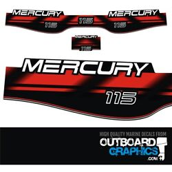 Mercury 115hp Two Stroke Outboard Engine Decals/sticker Kit