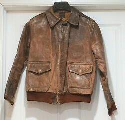 Authentic Wwii Leather Air Force Army A2 Jacket