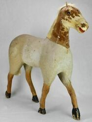 Large Rustic Antique French Toy Horse 28