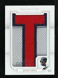 2020 Topps Definitive Collection Nameplate 1/1 David Ortiz Letter T Nc-do.3