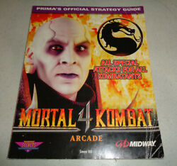 Very Rare Mortal Kombat Iv 4 Arcade Primaand039s Official Strategy Guide
