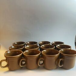 Sunmarc Dimensions Tan Speckled Coffee Mug Stoneware Made In Japan Set Of 12