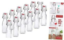 8 Ounce Clear Swing Top Glass Beer Bottles For Home Brewing - Clear 8 Pack