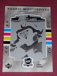 06-07 The Cup Shea Weber Rookie Masterpiece 1/1 Black Printing Plate Rc B-525