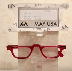 May Style 225 Color 813 Large Half Eye 48mm Reading Glasses New Store Stock
