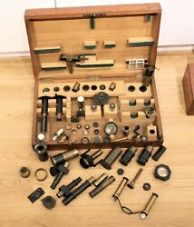 Collection Of Optics For Microscope Polarization Spectroscopy With 7 Prisms 1880