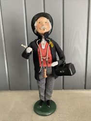 Vintage Byer's Choice The Carolers Figurine 2002 The Doctor Stethoscope M.d.