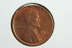 1915 Lincoln Wheat Cent Red Brown Bu 0ax0